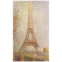 Cuadro Abstracto Torre Eiffel Georges Seurat 85 X 50 Cm