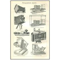 Poster Cámaras Fotográficas, Equipo Antiguas 1900 76 X 50 Cm