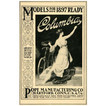 Cuadro Tela Bicicletas Antiguas Pope Columbi 1897 50 X 75 Cm