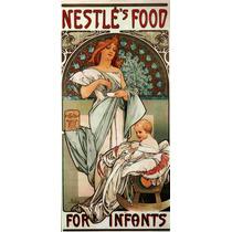 Cuadro Tela Art Deco Anuncio Nestle Mucha 1897