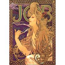 Cuadro Tela Art Deco Anuncio Cigarros Job (b) Mucha 1900