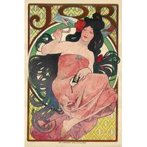 Cuadro Tela Art Deco Anuncio Cigarros Job (a) Mucha 1900
