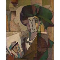 Cuadro En Tela Joven Con Pluma Fuente Diego Rivera 1914