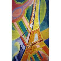 Lienzo Tela Torre Eiffel Robert Delaunay 1926 80x50cm Cuadro