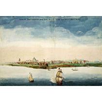 Lienzo Tela Vista De Pájaro Ciudad De Nueva York 1664 50x73