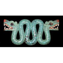 Cuadro En Tela Serpiente Azteca Doble Cabeza Museo Británico