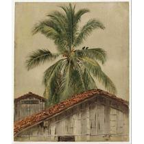 Cuadro En Tela Frederic Edwin Church Palmeras Tejas 61 X 50