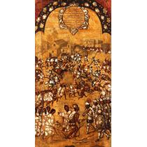 Cuadro Tela Tabla 5 De 22 Conquista Imperio Azteca 90 X 50cm