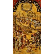 Cuadro Tela Tabla 8 De 22 Conquista Imperio Azteca 90 X 50cm