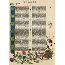 Página En Latín Biblia De Gutenberg 1455 Génesis 71 X 50 Cm