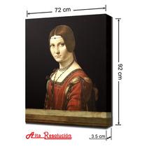 Lienzo En Cuadro, L. Da Vinci, La Belle Ferronn.. 72 X 92 Cm