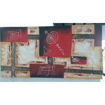 Cuadro Abstracto Oleo - Mueblemoda Decoracion