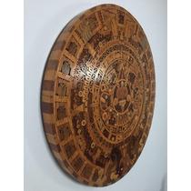 Calendario Azteca Piedra Del Sol Maderas Finas Artesania