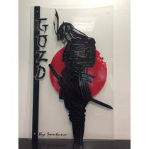Cuadro Diseño Arte Decoración Minimalista Samurai