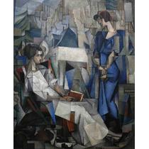 Lienzo En Tela Dos Mujeres Diego Rivera 1914 62 X 50 Cm