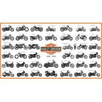 Lienzo Tela Cuadro Motocicleta Harley Davidson 1956-1992