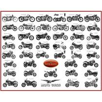 Lienzo Tela Motocicleta Guzzi 1921 - 2006 80 X 60 Decoracíon