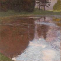 Lienzo Tela Gustav Klimt Pintura Estanque Quieto 50 X 50 Cm
