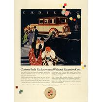 Lienzo Tela Anuncio Automóvil Cadillac 1925 70 X 50 Cm