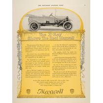 Lienzo En Tela Anuncio Automóvil Maxwell 1917 50 X 70 Cm