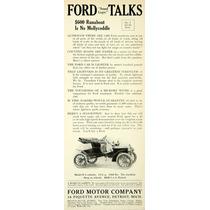 Lienzo En Tela Anuncio Automóvil Ford 1907 80 X 30 Cm