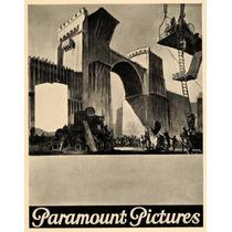 Lienzo Tela Poster Paramount Pictures 1926 80 X 50 Cm Cine