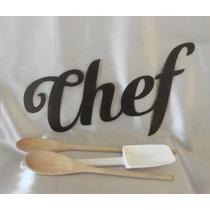 Figuras Letras Chef Cocina Decoracion Metal