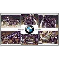 Lienzo Tela Fotografía Motocicleta Bmw 1925 R32 50 X 90 Cm