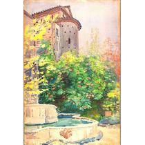 Lienzo Tela Acuarela Villa Tivoli Stanislaw Maslowski 1922
