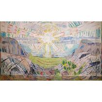 Lienzo Tela Pintor Edvard Munch El Sol Año 1910 50 X 85 Cm