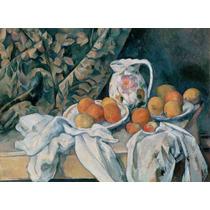 Lienzo Tela Paul Cezanne Naturaleza Muerta Con Cortina 1895