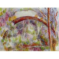 Lienzo Tela Pintor Paul Cezanne Río Con Puente 1906 50x67 Cm