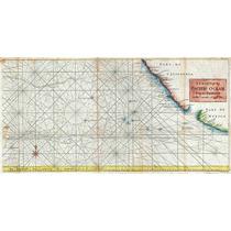 Lienzo Tela Carta Marítima Manila Acapulco 1748 46 X 90 Cm