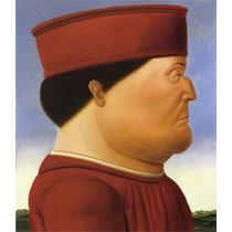 Lienzo-tela Federico Da Montefeltro Fernando Botero, 68x80cm