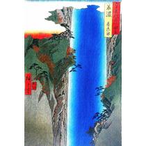 Lienzo Tela Escuela Utagawa La Gran Cascada Japón 75 X 50 Cm