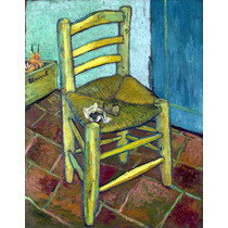 Lienzo Tela Silla Por Vincent Van Gogh Poster 1888 50x65 Cm