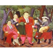Lienzo-tela, Lefty And His Gang, Fernando Botero, 63 X 80cm