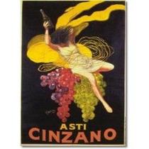 Litografia - Asti Cinzano Leoneto Capiello Sav7 Vintage