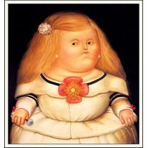 Lienzo-tela, Menina, Fernando Botero, 73 X 80 Cm