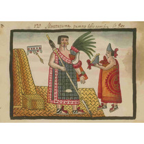 Lienzo Tela Códice Tovar Moctezuma 1 Rey Azteca 50 X 72 Cm
