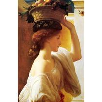Lienzo-tela, Mujer Con Canasta, Frederic Leighton 60x90 Cm