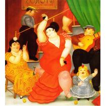 Lienzo-tela, Flamenco, Fernando Botero, 72 X 80 Cm
