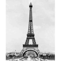 Foto Impresa En Tela Torre Eiffel Terminada 1859 62 X 50 Cm