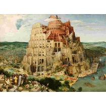 Lienzo En Tela Torre De Babel Por Pieter Bruegel 50 X 68 Cm