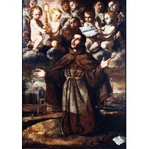 Lienzo-tela, San Pascual Bailon, 70 X 100 Cm, Arte Sacro