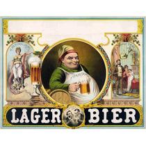 Lienzo Tela Diploma Tomador De Cerveza 50 X 65 Cm Poster