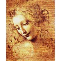 Lienzo, Tela. Leonardo Da Vinci, La Scapigliata. 70 X 90 Cm