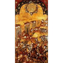 Lienzo Tela Tabla 20 De 22 Conquista Imperio Azteca 90x50 Cm