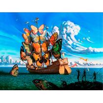 Lienzo Tela, Barco De Mariposas, Salvador Dalí 60 X 80 Cm