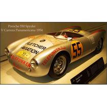 Lienzo Automóvil Porsche Spyder 1954 V Carrera Panamericana